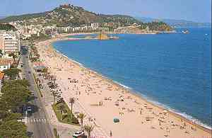 beach at Blanes near Barcelona