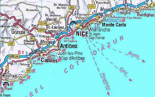 FRENCH RIVIERA COTE DAZUR TOURIST INFORMATION