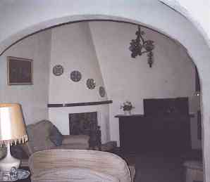 Photograph of inside the house showing comfortable traditional Spanish self catering accommodation to rent