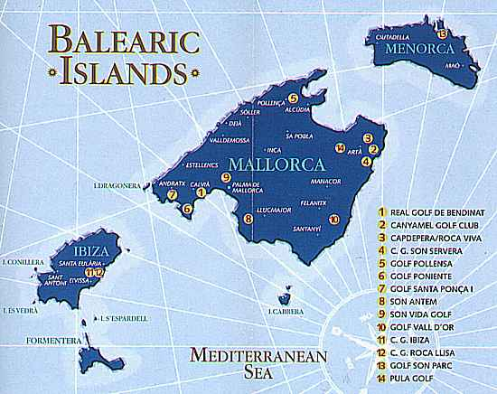 map of golf courses in Mallorca Majorca><P></center> <A NAME=